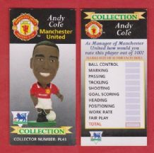 Manchester United Andy Cole England PL41